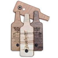 BO-BS Bottle Shaped Bottle Openers Custom Engraved