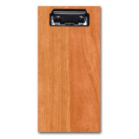cherry hardwood glovebox clipboard