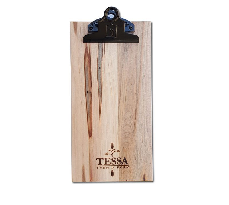 Wooden Engraved Check Presenter Clipboard