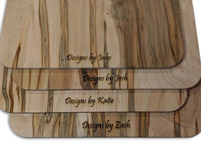 Put your name on our wood clipboards