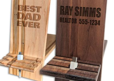 Personalized Wood Phone Charging Stands
