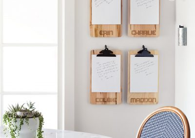 Custom Clipboards: Organize your home with personalized clipboards for the whole family.