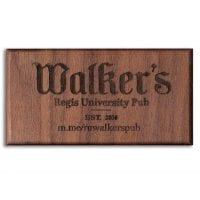 Walnut Custom Engraved Hardwood Business Card Refrigerator Magnets